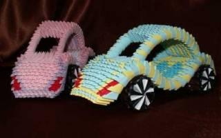 Машина. Модульное оригами. Кабриолет.