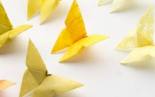 Оригами. Бабочка. Пошаговый мастер-класс