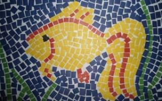 Мозаика из бумаги. Гриб. Мастер-класс