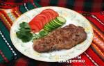 Мясо на гриле. Рецепт с пошаговыми фото