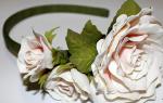 Ободок из фоамирана. Галерея роз.