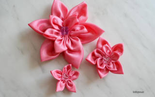 Мастер-класс. Цветок из атласной ткани своими руками