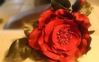 Цветок из кожи. Пошаговый мастер-класс