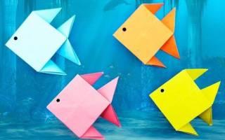 Золотая рыбка своими руками из бумаги. Схема оригами