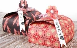 Новогодняя поздравительная мини-коробочка: