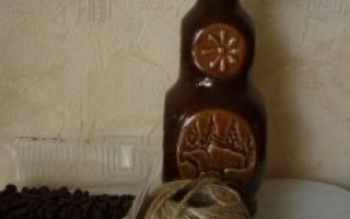Ваза из шпагата и кофейных зерен для маникюрных принадлежностей. Мастер-класс