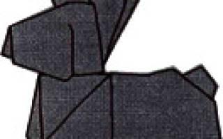 Кролик из бумаги. Схема оригами