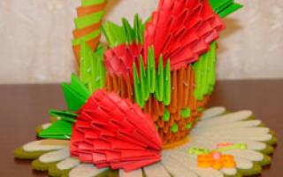 Модульное оригами. Клубника. Пошаговый мастер-класс