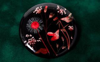 Брошь из цветка орхидеи (сухоцвет) и эпоксидной смолы. Пошаговый мастер-класс
