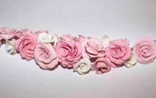 Роза из полимерной глины. Мастер — класс с пошаговыми фото