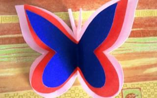 Объемная аппликация. Панно с бабочками. Мастер класс с пошаговым фото