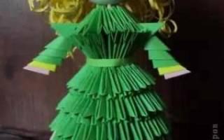 Модульное оригами. Кукла принцесса.