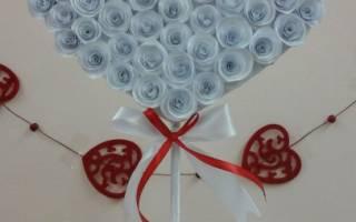 Топиарий из перьев «Валентинка» на день Святого Валентина. Мастер класс с пошаговым фото