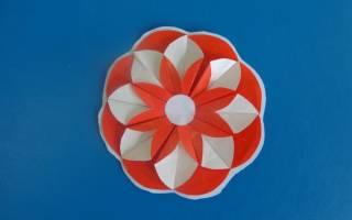 Оригами из кругов. Аленький цветочек.