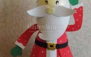 Объемная 3D кукла из фоамирана. Пузатый Санта.