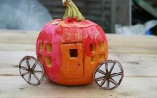 Осенняя поделка из тыквы. Теремок.