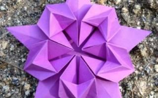 Исходная форма оригами. Пятиугольник. Мастер-класс