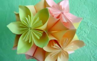 Цветочный шар из цветной бумаги.