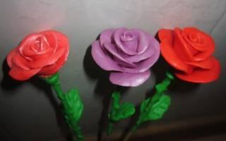 Розы из массы для лепки.