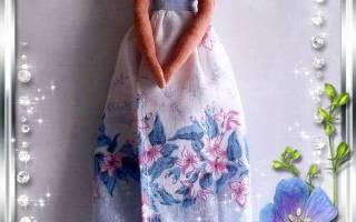 Кукла Тильда Ангел цветочный. Мастер класс и выкройка