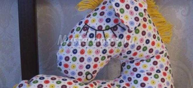 Подушка-игрушка своими руками. Спящая лошадка.