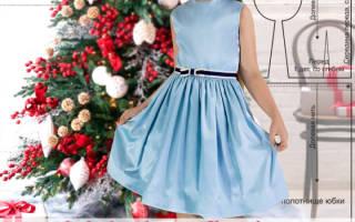 Нарядное атласное платье для девочки.