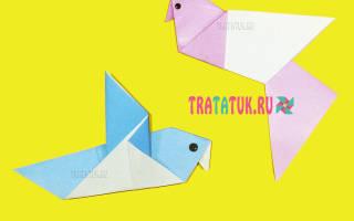 Голубь мира в технике оригами.