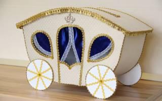 Мягкая свадебная коробка для денег. Мастер класс с фото