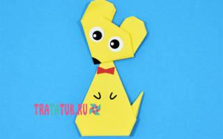 Мышка из бумаги. Схема оригами