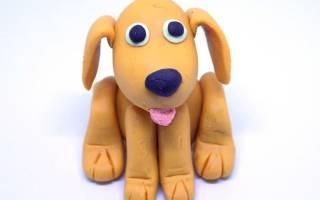 Поделки из пластилина для детей. Собака.