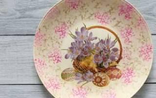 Декупаж тарелки: материалы и этапы