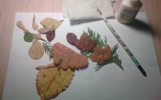 Аппликация. Животные из листьев