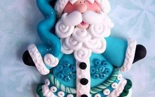 Дед Мороз из соленого теста. Пошаговый мастер-класс