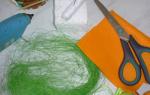 Шляпка пасхального кролика из фетра.