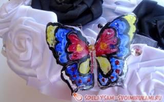 Рисование в технике витраж. Бабочка-красавица.