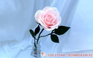 Розы из гофробумаги. Лучшие способы изготовления
