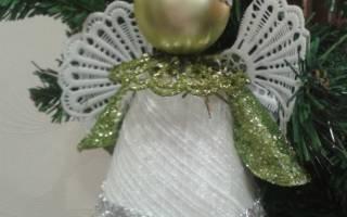 Рождественский ангел своими руками. Мастер класс. Часть 1