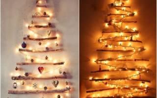Новогодняя елка на стену своими руками.