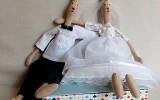Тильда. Свадебные зайцы ароматические.