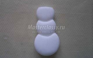 Поделка из полимерной глины «Зимние забавы». Мастер класс с пошаговым фото
