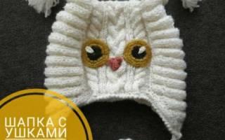 Вязание спицами. Весенняя шапочка с мишкой. Мастер-класс