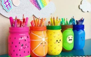 Декупаж баночки под карандаши или ручки.
