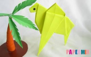 Оригами животные. Верблюд.