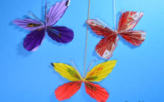 Бабочки из фантиков своими руками.