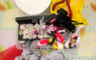 Букет из мягких игрушек своими руками. Летняя полянка.