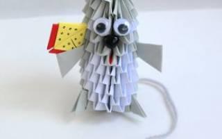 Модульное оригами. Мышка.