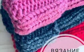 Теплая вязаная шапка спицами для девочки. Схема