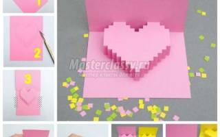 Коллаж из салфеток ко Дню Святого Валентина. Мастер-класс
