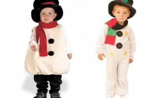 Костюм снеговика своими руками: лучшие мастер-классы с фото