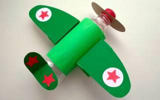Самолет из бутылки своими руками. Инструкция с фотографиями